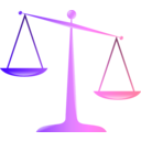download Scales Of Justice Colored Glassy Effect Derivative clipart image with 45 hue color