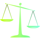 download Scales Of Justice Colored Glassy Effect Derivative clipart image with 225 hue color