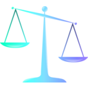 download Scales Of Justice Colored Glassy Effect Derivative clipart image with 315 hue color