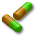 download Two Capsules clipart image with 45 hue color