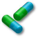 download Two Capsules clipart image with 135 hue color