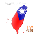 Map Based Flag Of Taiwan