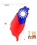 Map Based Flag Of Taiwan