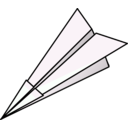 download Paper Plane clipart image with 135 hue color