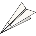 download Paper Plane clipart image with 225 hue color
