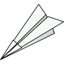 download Paper Plane clipart image with 315 hue color
