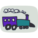download Toy Train clipart image with 45 hue color