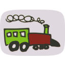 download Toy Train clipart image with 225 hue color