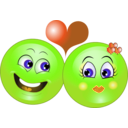 download Lovely Couple Smiley Emoticon clipart image with 45 hue color