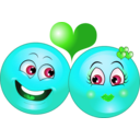 download Lovely Couple Smiley Emoticon clipart image with 135 hue color