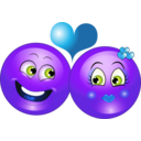 download Lovely Couple Smiley Emoticon clipart image with 225 hue color