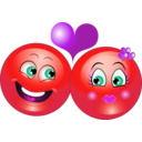 download Lovely Couple Smiley Emoticon clipart image with 315 hue color