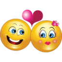 Lovely Couple Smiley Emoticon