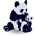download Panda Baby Panda clipart image with 135 hue color