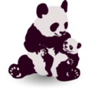 download Panda Baby Panda clipart image with 225 hue color