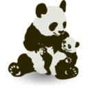 download Panda Baby Panda clipart image with 315 hue color