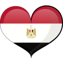 Egypt Heart Flag