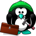 download Craftsman Penguin clipart image with 135 hue color