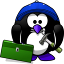 download Craftsman Penguin clipart image with 225 hue color