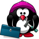download Craftsman Penguin clipart image with 315 hue color