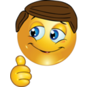 Thumbs Up Boy Smiley Emoticon