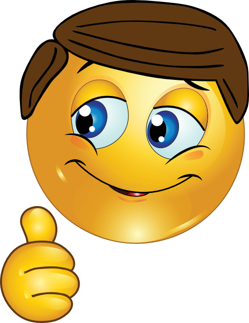 Thumbs Up Boy Smiley Emoticon Clipart - Royalty Free Public Domain