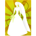 download Red Bride With Sunburst clipart image with 45 hue color