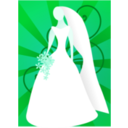 download Red Bride With Sunburst clipart image with 135 hue color