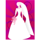 download Red Bride With Sunburst clipart image with 315 hue color