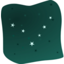 download Stars In The Night clipart image with 315 hue color