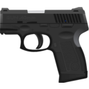 download Gun 40 clipart image with 225 hue color