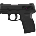 download Gun 40 clipart image with 315 hue color