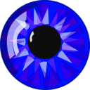 download Blue Eye clipart image with 45 hue color
