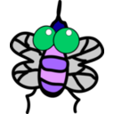 download Fly clipart image with 225 hue color