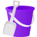 download Bucket clipart image with 225 hue color