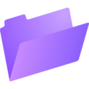 download Folder Icon clipart image with 225 hue color