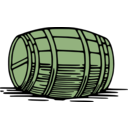 download Large Barrel clipart image with 45 hue color