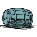 download Large Barrel clipart image with 135 hue color