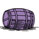 download Large Barrel clipart image with 225 hue color