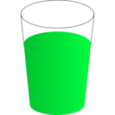 download Drinking Glass With Red Punch 01 clipart image with 135 hue color