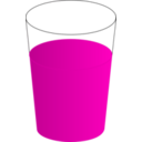 download Drinking Glass With Red Punch 01 clipart image with 315 hue color