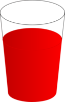 Drinking Glass With Red Punch 01