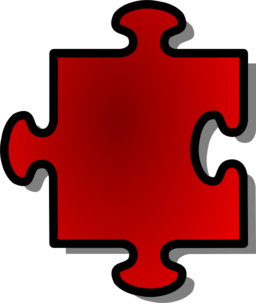 Red Jigsaw Piece 07