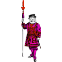download Yeoman Of The Guard clipart image with 315 hue color