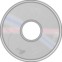 download More Obviously Damaged Compact Disc clipart image with 45 hue color