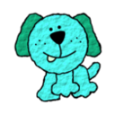 download Doggie clipart image with 135 hue color