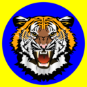 Tiger Blue On Yellow