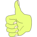 download Thumbs Up clipart image with 45 hue color