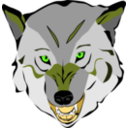 download Wolf clipart image with 45 hue color