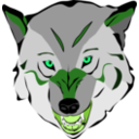 download Wolf clipart image with 90 hue color